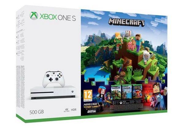 Microsoft Xbox One S 500GB konzol + Minecraft játékszoftver