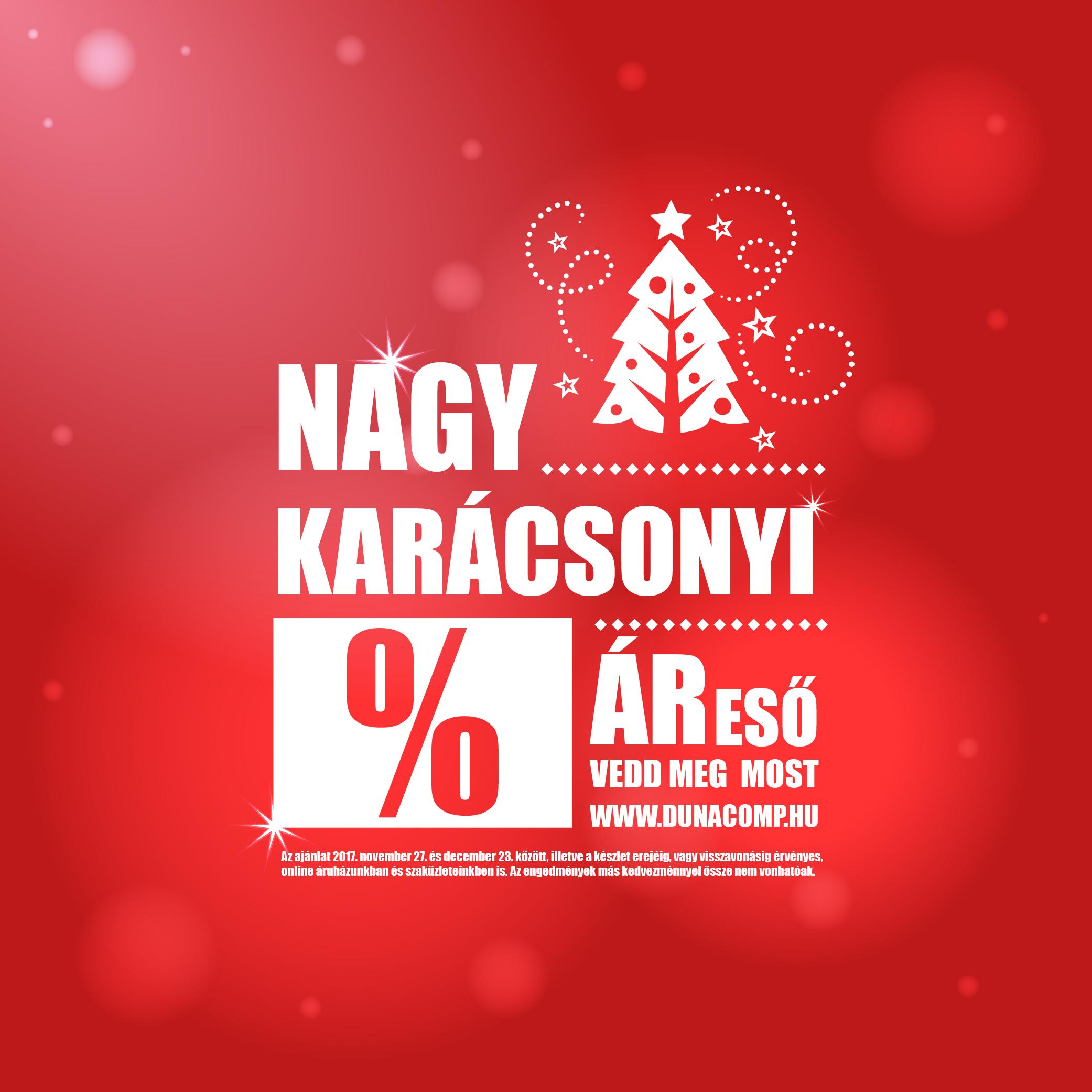 Nagy karácsonyi ÁR ESŐ a DunaComp Informatikánál!